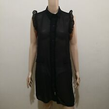 C486 - NB Black Sheer Collared Dress
