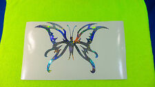 Holographic Fireworks Tribal Butterfly #69 Vinyl Car Window Decal Laptop Sticker