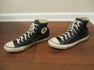 Used Size 9 Fit Like 9.5 - 10 Converse Chuck Taylor All Star Hi Shoes Black