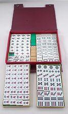 1950s 1960s Vintage Mah Jong Mahjong 2 Tone Tile Set in Orig Travel Carry Case