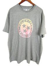 Volunteer Traditions Short Sleeve Crew Neck Gray T Shirt Men's XXL Tri Star
