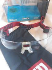 Wilson Omni Protective Eyewear Racquetball/Squash red black headband fabric case