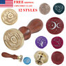 Classic Wooden Handle Head Brass Seal Wax Stamp For Wedding Invitation Letter
