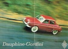 Renault Dauphine Gordini 1960 UK Market Sales Brochure