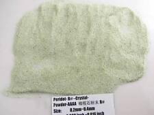 B# Natural Green Peridot Crystal Gem Stone Specimen Grinding Sand Powder Healing