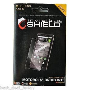 OEM Zagg Invisible Shield Screen Protector For Motorola Droid X/X2 MB810 MB870
