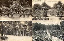 L'HAY LES ROSES (92) 4 cartes roseraie roses batiments jardin