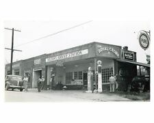 1941 Pure Oil Gas Station Photo Poster Rutherfordton NC Gas Globe zch2539