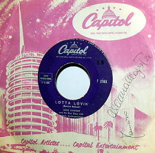 "GENE  VINCENT  LOTTA LOVIN' 7""  ITALY ORIGINALE 1957 - WEAR MY RING"