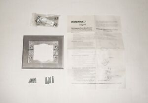 Wiremold Legrand 880MP Electrical Outlet Plug Rectangular Floor Box Cover Silver