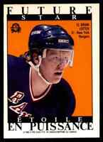 1988-89 O-Pee-Chee Sticker Brian Leetch Nm Rookie New York Rangers #189