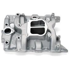 Edelbrock Intake Manifold 2156; Performer Dual Plane Satin Aluminum for Pontiac