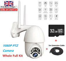 1080P IP WIFI Camera CCTV Wireless Outdoor HD PTZ Smart Home Security IR Cam UK