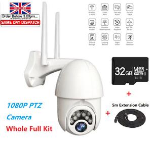 1080P IP WIFI Camera CCTV Wireless Outdoor HD PTZ Smart Home Security IR Cam UK