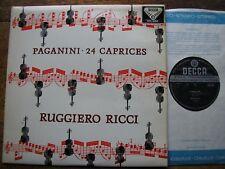 SXL 2194 PAGANINI: 24 CAPRICES    RUGGIERO RICCI   WB  ED3   EX+ / EX+