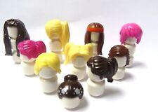 Lego 10 Ladies Girl Female Minifigure Figure Hair Wig Blonde Brown Pink