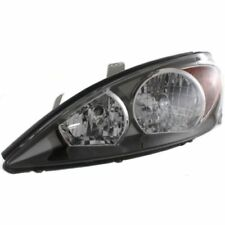 For Camry 02-04, Driver Side Headlight, Clear Lens; Black Interior