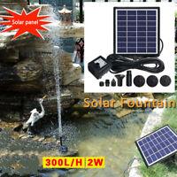 Solar Teichpumpe Solarpumpe Gartenbrunnen Pumpenset Springbrunnen Garten Brunnen