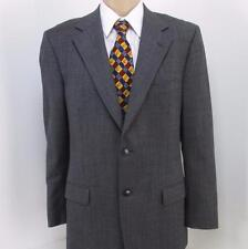 42 R Ermenegildo Zegna Gray Pure Wool 2 Btn Mens Jacket Sport Coat Blazer Mint