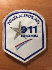PATCH POLICE ARGENTINA - 911 EMERGENCY ESU  PROVINCE ENTRE RIOS - ORIGINAL!