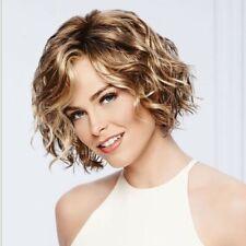Gradient Blonde Curly Wavy Natural Wig Women Hair Heat Resistant Lady Full Wig
