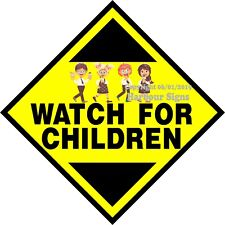 Watch for Children DECAL (Choose Your Size) Safety Concession Food Sticker Truck