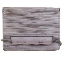 Authentic LOUIS VUITTON Pass Card Case Epi Leather Lila France M6367C 06V649