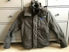 Abercrombie Boys Winter Fleece Lined Hooded Grey Coat Zip Up SIZE XL