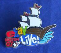 eBay Live 2007 Boston USS Constitution Navy Ship Lapel Hat Pin