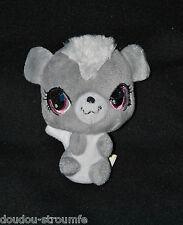 Peluche Doudou Ecureuil Littlest PetShop HASBRO 2012 Gris Blanc 12 Cm Assis TTBE