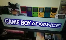 "GameBoy Advance Display, Nintendo GBA Aluminum Sign, 6"" x 24""."