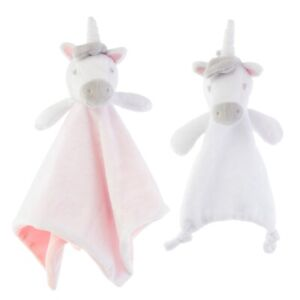 Unicorn Baby Comforter Soft Blanket Security Snuggle Blankie Taggie Toy Gift