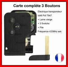 Card Blank Key + Electronic LCD Display Programmer Renault Megane 2 Scenic 2 3