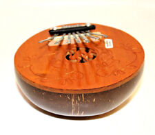 Beautiful Carved Kalimba Thumb Finger Piano Hand Percussion Nice Unique Gift