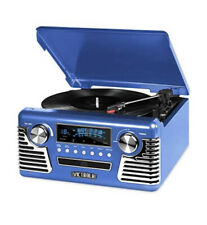 Victrola 50's Retro Bluetooth Record Player w/Built-in Speaker Blue