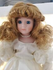Unmarked Porcelain Doll - Windswept Bride - with Stand