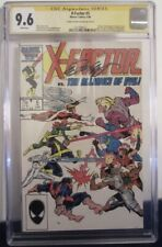 X-Factor #5 cgc ss 9.6 Bob Layton Signed Key Issue 1st App Of Apocalypse Cameo