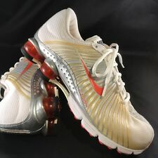 Nike Shox Experience Womens Size 9, 40.5 EUR White Silver/Coral Red 318685-181