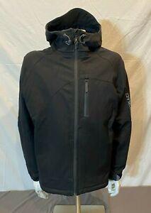 O'Neill International Series Hooded Black Softshell Jacket Men's Large GREAT