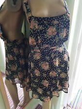 BRAND NEW DIFFUSE CUTE HOLIDAY PINAFORE MINI DRESS BLACK SIZE 12 BNWT NEXt*LOOK