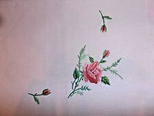 Lot 2 Chinese Decorative Handcraft Pink Floral Embroidery Pillow Sham Case Cover