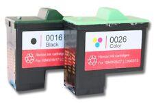 2x XXL CARTUCHO TINTA negro y color para LEXMARK 16 26 X75m, X1100, X1110
