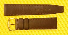 19mm Vintage OMEGA Leather Watch Strap Band BROWN Swiss Made <NWoT>