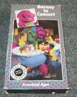 Barney In Concert 1991 Original Release Lyons Group Preschool Ages Purple VHS
