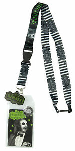Beetlejuice Never Trust The Living Lanyard ID Holder, Rubber Charm And Sticker