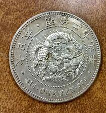 {BJSTAMPS} Japan 1 yen dragon Yr 29 1896  2 chop marks looks XF/AU