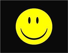 "Smiley Happy Face  Decal  Vinyl Car Window Sticker 6"" x 6"""