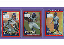 2010 Topps Chrome Minnesota Vikings (9) Card Orange Refractor Team Set! Favre!