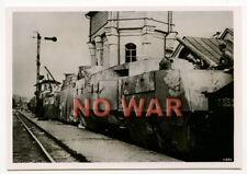 WWII ORIGINAL GERMAN WAR PHOTO ARMORED TRAIN Panzerzug