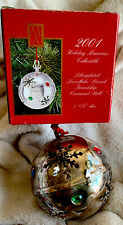 Madison Avenue 2001 Silver Plated Snowflake Pierced Friendship Ornament Ball!